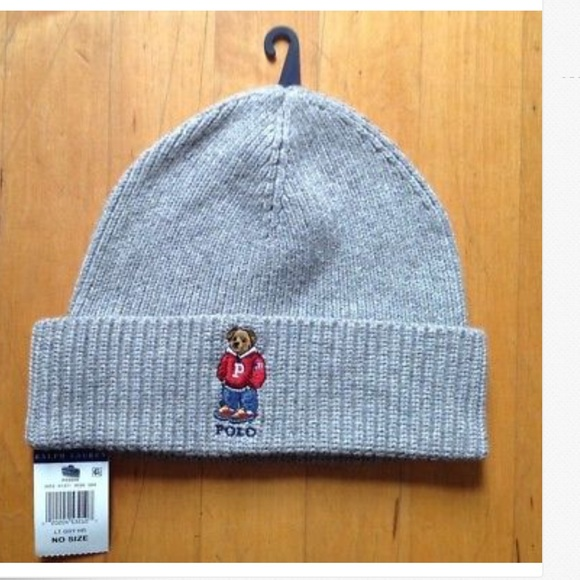 be10ab88c Polo Ralph Lauren Bear Beanie Winter Hat One Size